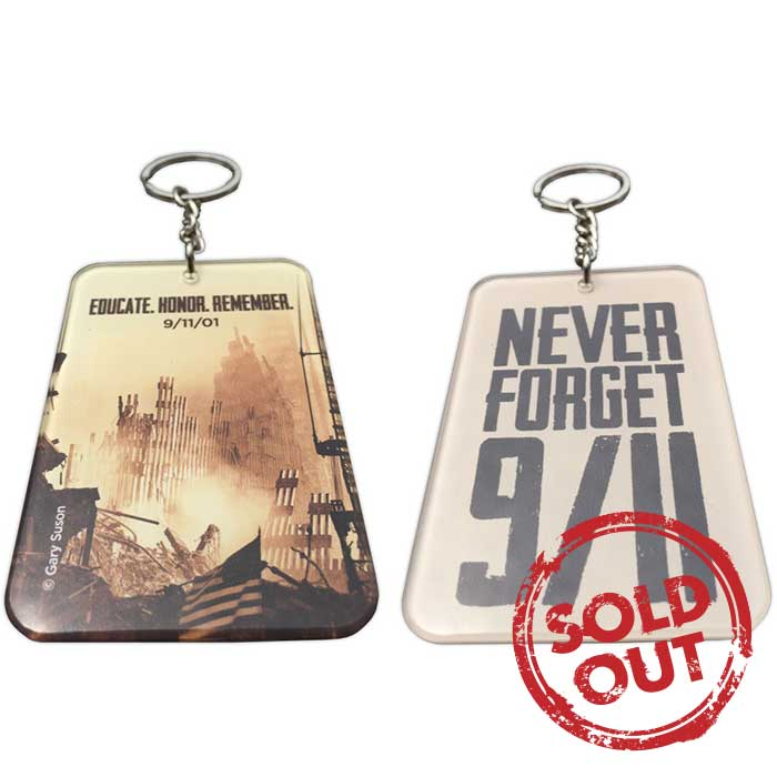 """Sunset at Ground Zero"" Keychain 2.5 in. x 1.75 in."