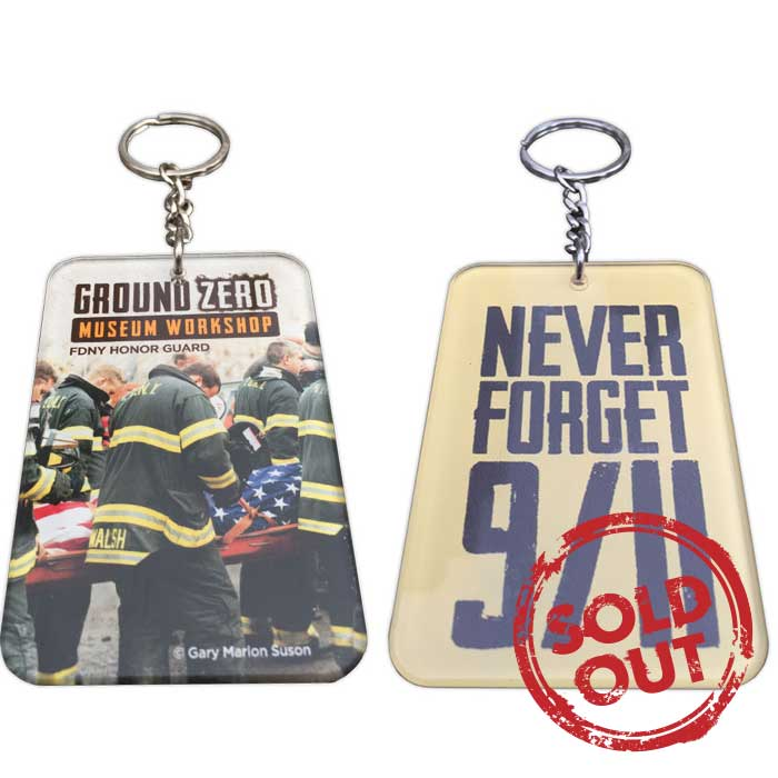 """FDNY WTC Honor Guard"" Keychain 2.5 in. x 1.75 in."