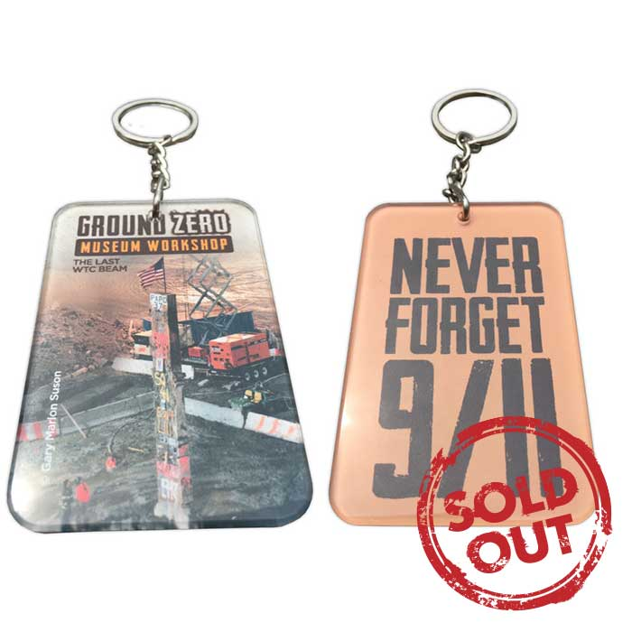 """The Last WTC Beam""<br/> Acrylic Keychain<br/> 2 in. x 3 in."