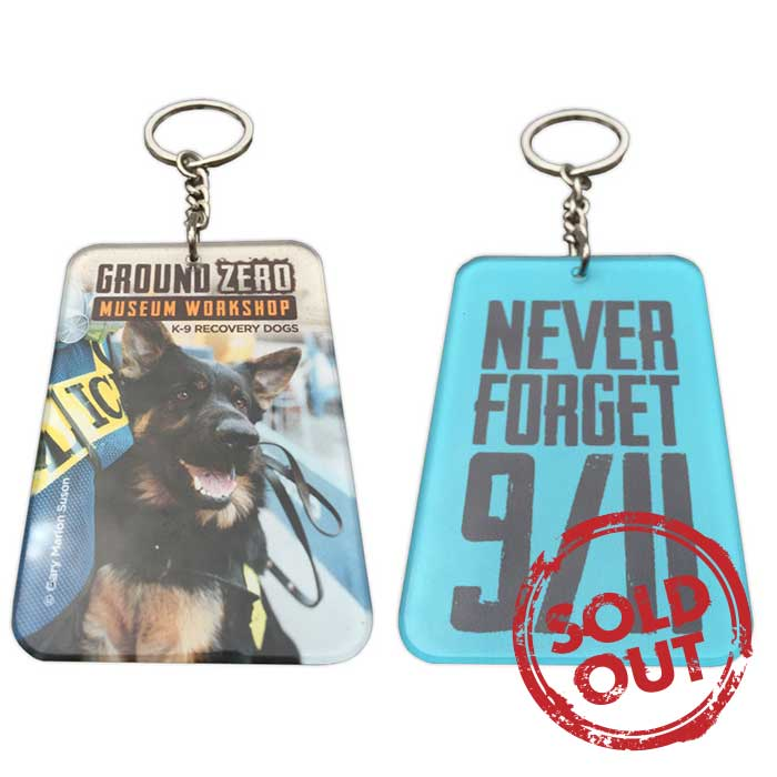 9/11 Museum Shop K-9 Dog Keychains