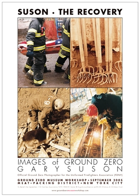 19 in. x 27 in. Poster <br> The 9/11 Recovery in Four Images
