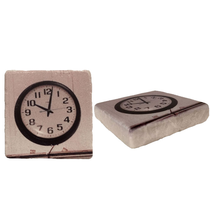 The Frozen Clock Italian Marble Magnet