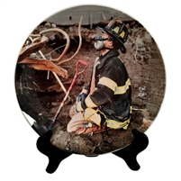 Oscar Prays at Sunrise Porcelain Plate