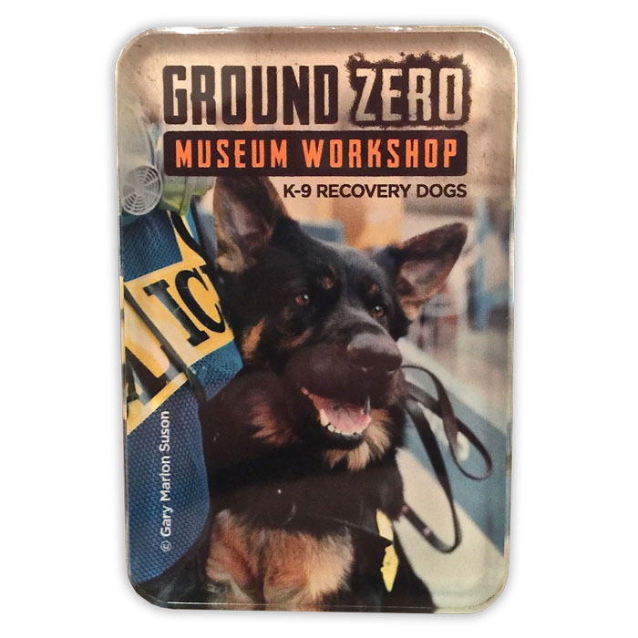 K-9 Recovery Dogs of Ground Zero Acrylic Magnet