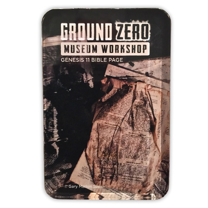 Ground Zero Bible Page Acrylic Magnet