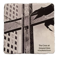The Ground Zero Cross Marble Coaster Set