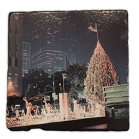 Ground Zero Christmas Tree Marble Coaster Set