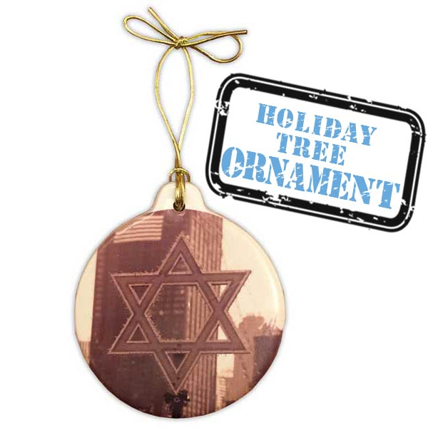 Chanukah Tree Ornament Marble Coaster Set