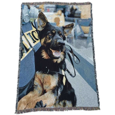 Ground Zero Recovery Dogs Woven Throw