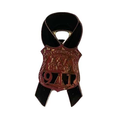 Black Ribbon with NYPD 911 Shield Pin