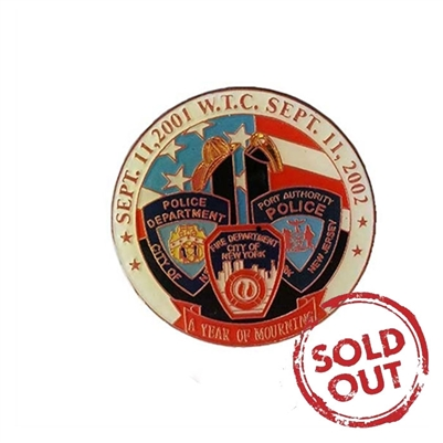 World Trade Center - A Year of Mourning Pin