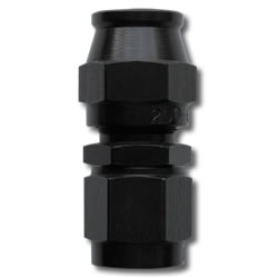 #6 STRAIGHT PTFE HOSE END - BLACK