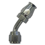 #4 45 DEGREE PTFE HOSE END - STEEL