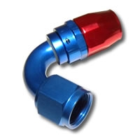 136 Series #4 120 Degree Single Nipple Hose End