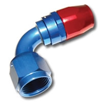 136 Series #6 90 Degree Single Nipple Hose End