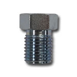 CHASSIS HARDLINE FITTINGS, 9/16-18 THREAD BUNDY NUT STEEL FITS: 3/16 TUBING