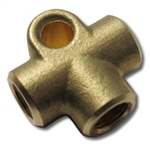 FEMALE BRAKE TEE - FEMALE 10MM X 1.0 CONCAVE - BRASS