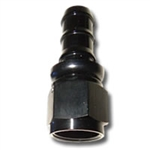 436 Series #12 Straight Push Fit Hose End Black