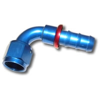 436 Series #6 90 Degree Push Fit Hose End