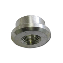 "AN ALUMINUM ADAPTER - 1/8"" FEMALE WELD-ON BUNG PIPE THREAD"