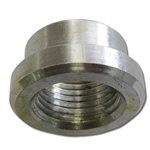 "AN ALUMINUM ADAPTER - 1/2"" FEMALE WELD-ON BUNG PIPE THREAD"