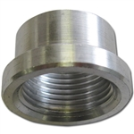 "AN ALUMINUM ADAPTER - 3/4"" FEMALE WELD-ON BUNG PIPE THREAD"