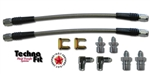 18 INCH HOSE KIT, FITS: METRIC and 3/8-24 IF - 2 LINE KIT