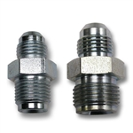 POWER STEERING BOX FITTING SET: -6 JIC TO 5/8-18 Inverted and -6 AN Male to 11/16-18 Inverted