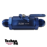 #8 Shut-Off Valve - Blue Aluminum