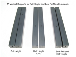 "Half Height (2U/4U) Vertical Supports - 5"" set of 2"