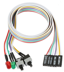 HighSpeed PC's ATX Power Wire - Mini power/reset switches & PWR/HDD LED's on a ribbon cable