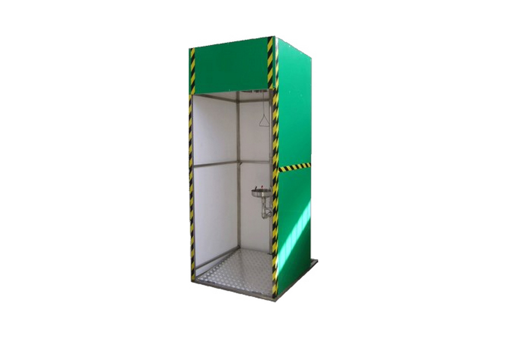 F- RTS105 - SAFETY SHOWER SYSTEM - ENCLOSED 3 SIDES - GALVANIZED / PAINTED STEEL