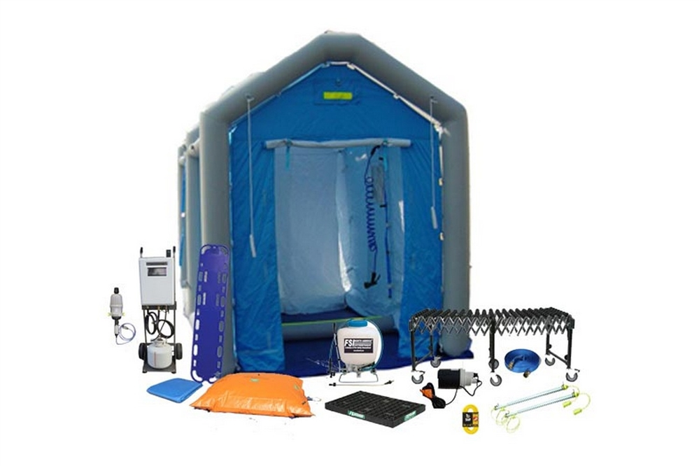 DAT®2525S-SYS-LED - MASS CASUALTY DECON SHOWER SYSTEM PACKAGE - SINGLE LINE