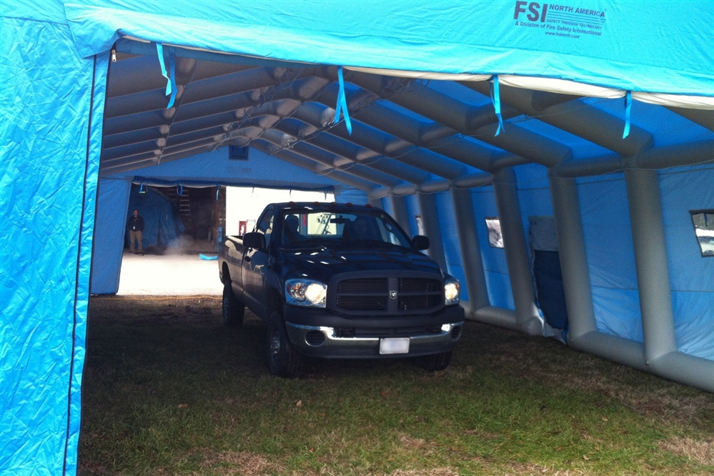 DAT®5700SP-DTGR DRIVE THROUGH SHELTER - 2 LANES - 2 VEHICLES