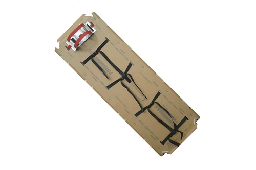 F-EM-12 - TRANSPORTER® FLUID RESISTANT DISPOSABLE ADULT BACKBOARDS - 4 STRAPS / HEAD IMMOBILIZER / C-COLLAR / BLANKET / TRIAGE CARD - BOX OF 5