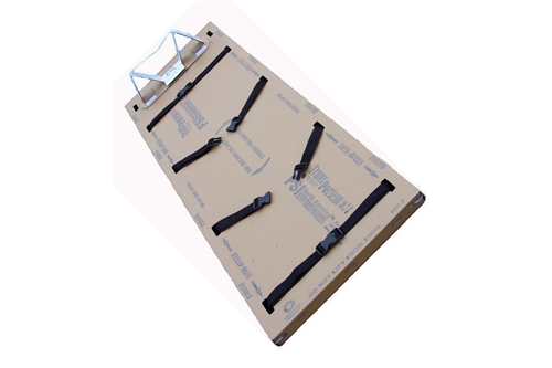 F-EM-16PA - TRANSPORTER® FLUID RESISTANT DISPOSABLE PEDIATRIC BACKBOARDS - 4 STRAPS / HEAD IMMOBILIZER - BOX OF 5