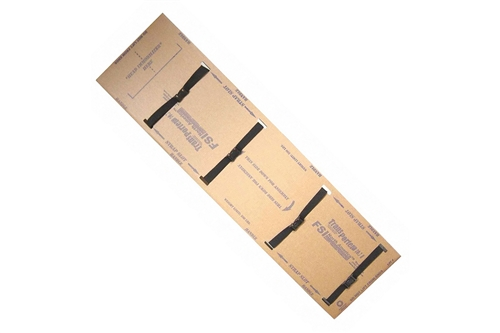 F-EM-6 - TRANSPORTER® FLUID RESISTANT DISPOSABLE ADULT BACKBOARDS - 4 STRAPS - BOX OF 5
