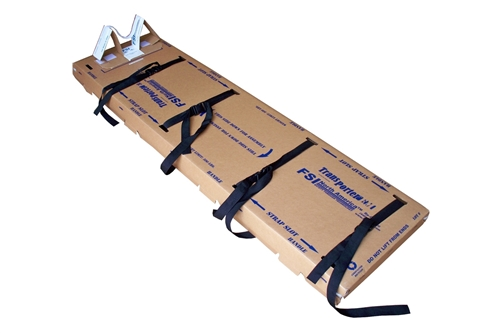 F-EM-8 - TRANSPORTER® FLUID RESISTANT DISPOSABLE ADULT BACKBOARDS -  4 STRAPS / HEAD IMMOBILIZER - BOX OF 5