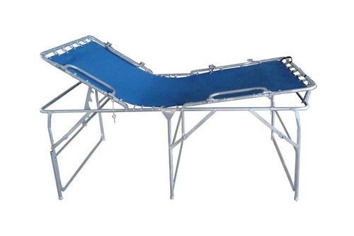 F-EM750A-HBSR100 - PREMIUM PORTABLE FIELD HOSPITAL BED / COT WITH FR MATTRESS & IV POLE