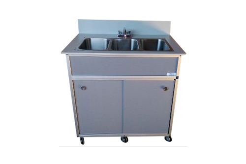 F-PFAD-SS33 - PORTABLE TRIPLE BASIN SINK