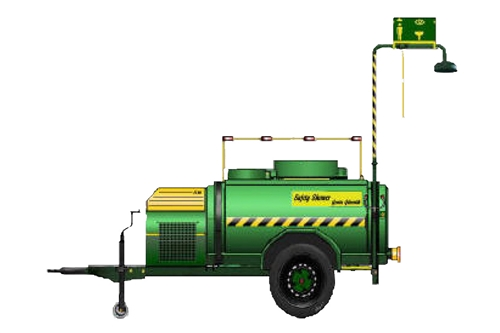 F-RTS113 - SAFETY TANK SHOWER MOBILE TRAILER SYSTEM - ON BOARD GENERATOR - 2000 LITER