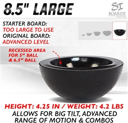 Si Boards 8.5 inch half ball