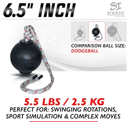 Si Boards 6.5 inch Medium Rope Ball