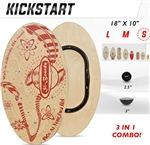 Si Boards Kick Start board with 2.5 inch Micro ball and 3 inch half ball