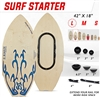 "SURF STARTER 7 IN 1 | Large Board / Adjustable Rail Hybrid | Economy Starter | 42"" x 18"""