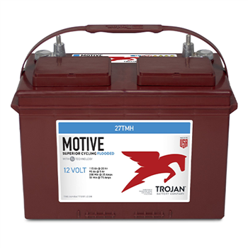 Trojan 27TMH > 12V, 128Ah, Signature Line Deep-Cycle Flooded Battery