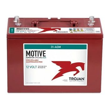 Trojan Motive 31-AGM 100Ah 12VDC Group 31 Deep-Cycle AGM Battery