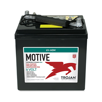 Trojan Motive 6V-AGM 200Ah 6VDC Group GC2 Dual Purpose AGM Battery