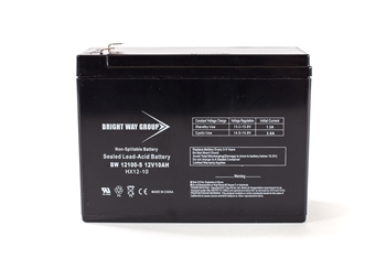 Bright Way Group BW 12100-S F2 10Ah 12V (@10hr) AGM Sealed Lead Acid Battery