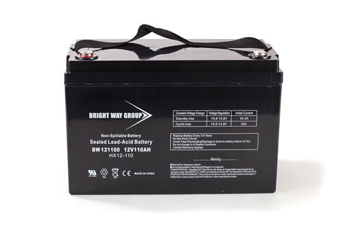 Bright Way Group BW 121100 IT (Group 30H) 110Ah 12V (@10hr) AGM Sealed Lead Acid Battery